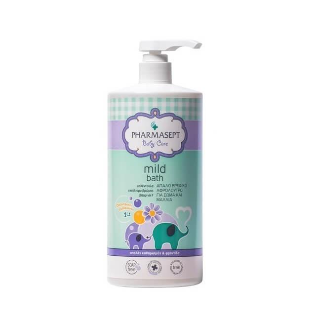 Pharmasept Tol Velvet Baby Mild Bath Αφρόλουτρο για σώμα & μαλλιά 1lt