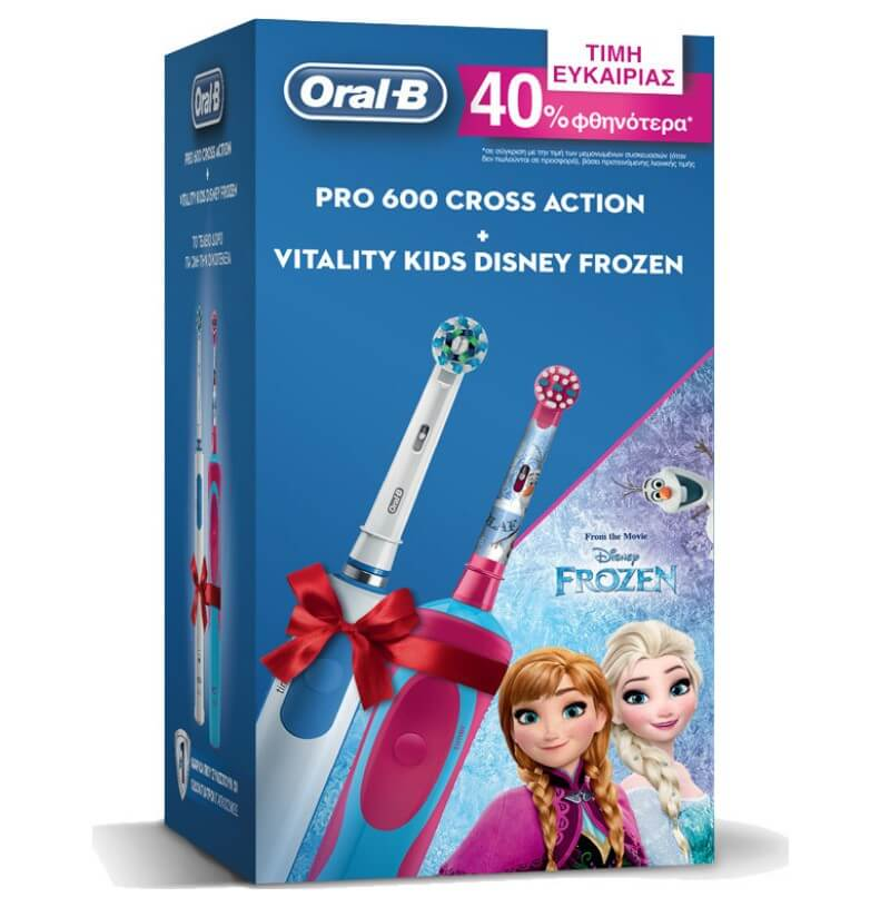 Oral- B Pro 600 Cross Action & Vitality Kids Disney Frozen