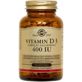 Solgar Vitamin D3 400iu 100 softgels