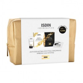 Isdin Antioxidant Set Flavo C Ultraglican & Flavo C Melatonin 5x2ml, K-ox Eyes Eye Creme 3gr, Face Creme 3ml & Cosmetic Bag
