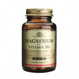 Solgar Magnesium With Vitamin B6 100 ταμπλέτες.