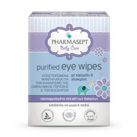 Pharmasept Baby Care Purified Eye Wipes 10τμχ.