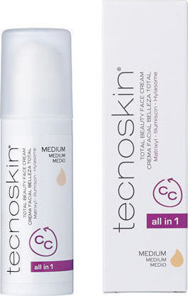 Tecnoskin Total beauty face cream cc all in 1 medium 50ml