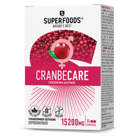 Superfoods Cranbecare 15200mg 30 κάψουλες
