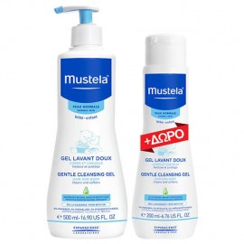 Mustela Gentle Cleansing Gel Απαλό Αφροντούς για Σώμα & Μαλλιά 500ml + GIFT Mustela Gentle Cleansing Gel 200ml
