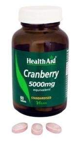 Health Aid Cranberry 5000mg 60 ταμπλέτες