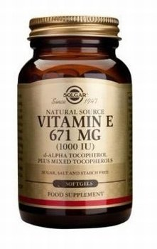 Solgar Vitamin E 671mg (1000iu) 50 softgels