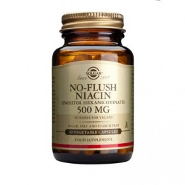 Solgar No-Flush Niacin 500mg 50 veg caps