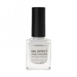 Korres Gel Effect Nail Colour No 01 Blanc White 11ml