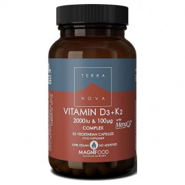 Terranova Vitamin D3 2000iu with K2 100μg 50caps