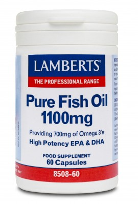 Lamberts Pure Fish Oil 1100mg 60 capsules